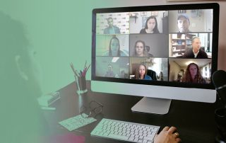 Photo of zoom meeting on Computer Screen