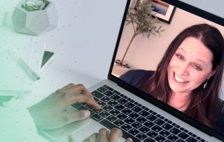 Photo of Erica Wexler on a Computer Screen